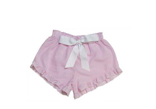 Girlie Girl Girlie Girl Seer Sucker Shorts Pink | White