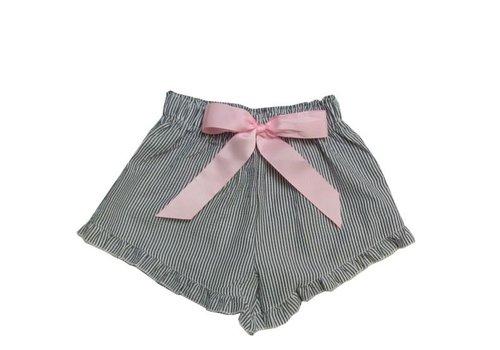 Girlie Girl Girlie Girl Seer Sucker Shorts Black | White