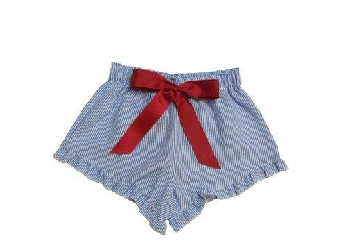 Girlie Girl Girlie Girl Seer Sucker Shorts Blue | White