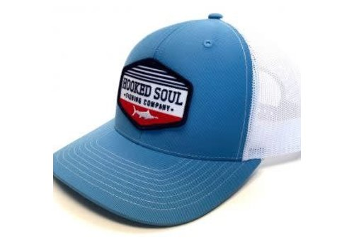 Hooked Soul Hooked Soul Marlin Patch Blue