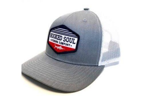 Hooked Soul Hooked Soul Marlin Patch Grey