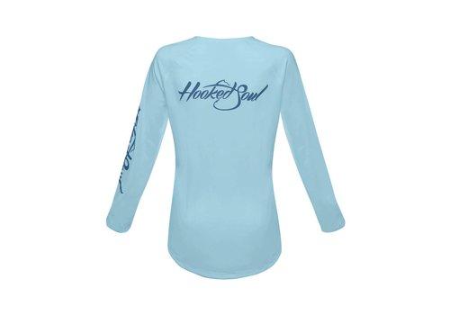 Hooked Soul Hooked Soul Women's Performance Logo Blue