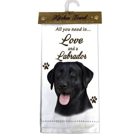 Labrador Black Towel Kitchen