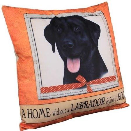 Labrador Black Pillow