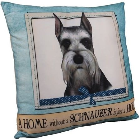 Schnauzer Cropped Pillow