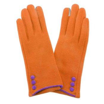 Button Glove Orange   Purple
