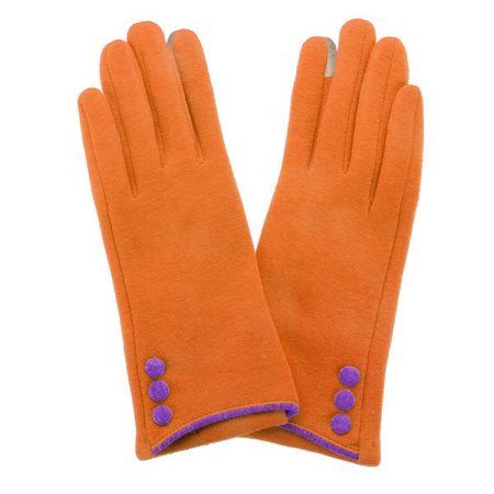 Button Glove Orange | Purple