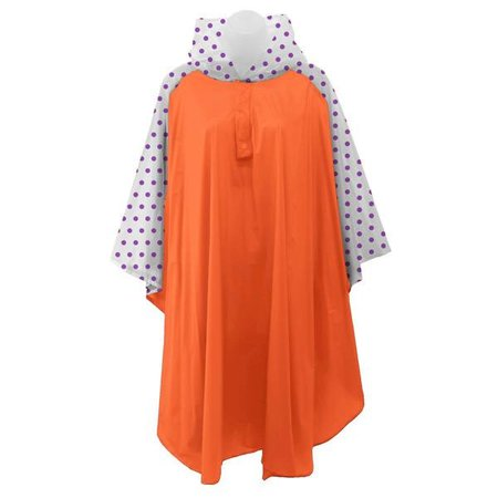 Rain Poncho Orange | Purple
