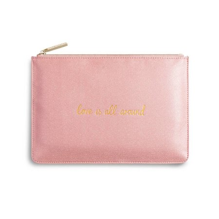 Love Is All Around | The Perfect Pouch | Shiny Pink