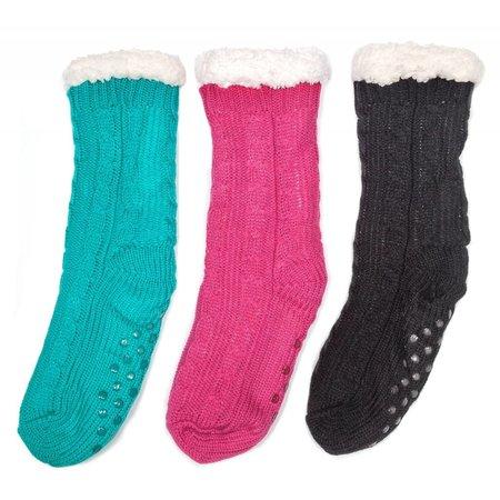 Fluffy Fleece Non Skid Socks