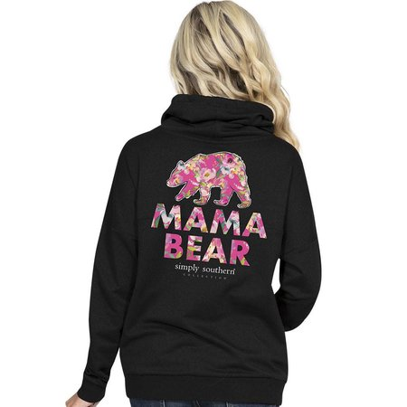 Mama Bear Black Cowl Neck Pullover