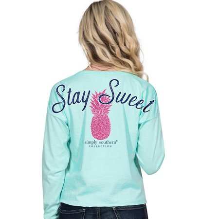 Simply Southern Stay Sweet Celedon Shortie LS