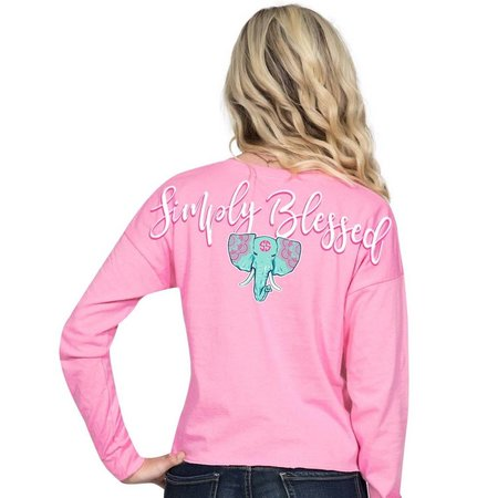 Simply Southern Blessed Flamingo Shortie LS