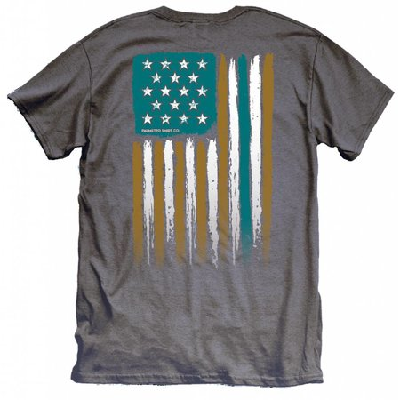 Coastal Carolina University USA Flag Charcoal