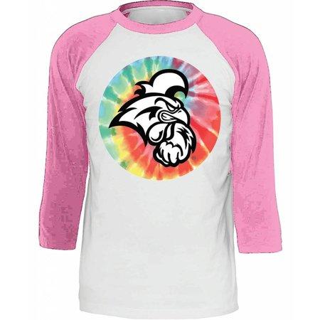 Coastal Carolina University Raglan Vintage Pink | Heather White