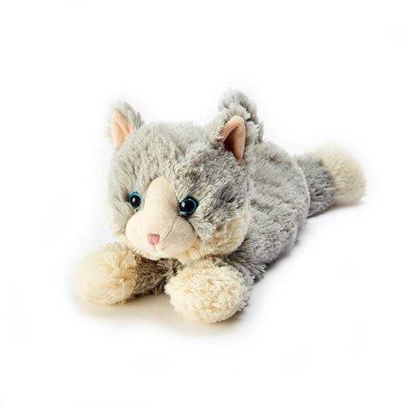 Laying Down Grey Cat Warmies Plush