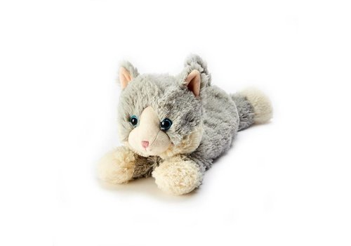 Intelex Laying Down Grey Cat Warmies Plush