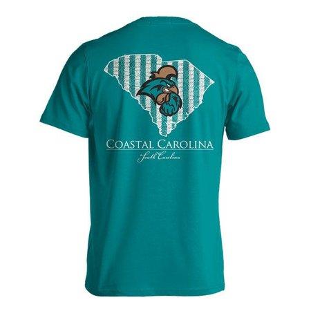 Coastal Carolina Seersucker Striped T-shirt