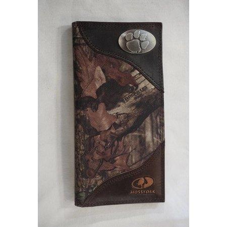 Zep Pro Mossy Oak Nylon Check Book Wallet Clemson