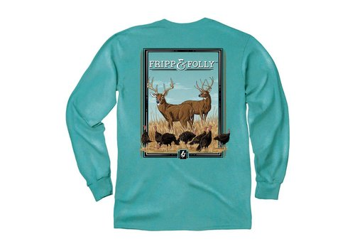 Fripp & Folly Fripp & Folly Deer With Turkeys LS Topside