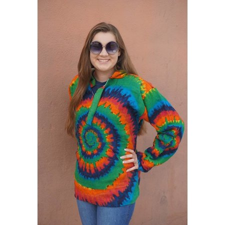 Baja Pullover Hoodie Tie Dye