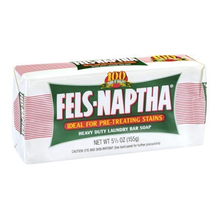 Fels Naptha Heavy Duty Laundry Soap One 5.5 Ounce Baf