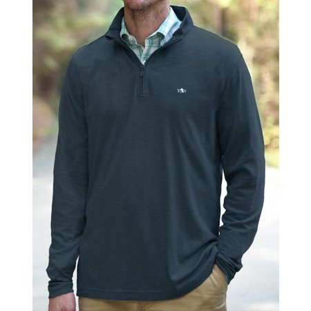 Fish Hippie Shad Point Quarter Zip Charcoal
