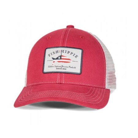 Fish Hippie Patriotic Red Hat