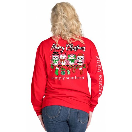 Owl Christmas Red LS YOUTH
