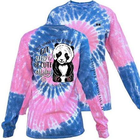 Panda Taffy Tie Dye LS YOUTH