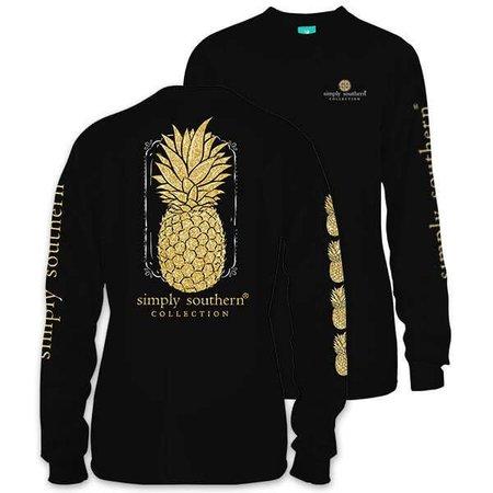 Pineapple Black LS YOUTH