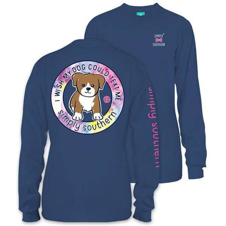 Preppy Text Moonrise LS YOUTH