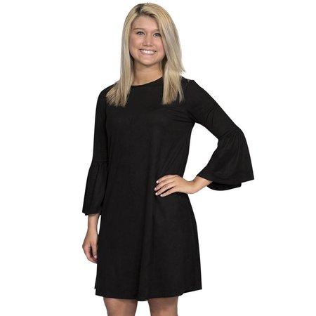 Charlotte Bell Sleeve Dress Black