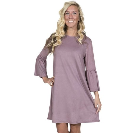 Charlotte Bell Sleeve Dress Lavender