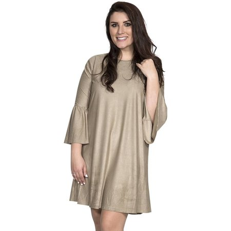 Charlotte Bell Sleeve Dress Taupe