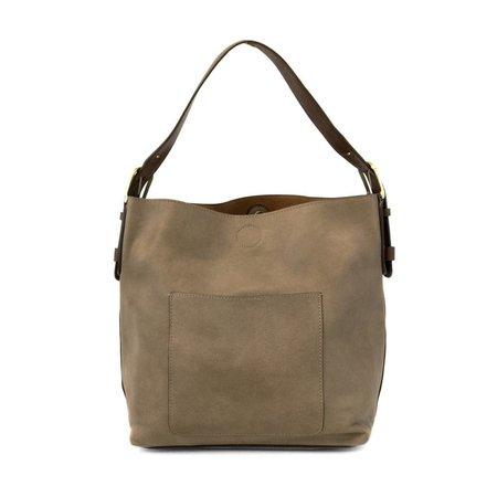 Dark Flax Classic Hobo Brown Handle Handbag