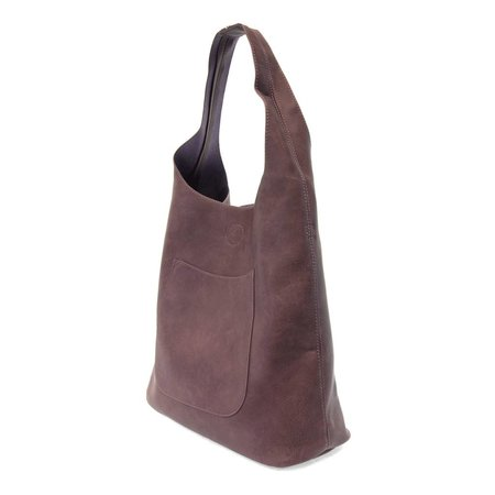 Plum Molly Slouchy Hobo Handbag
