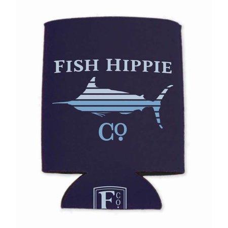 Fish Hippie Lines Koozie Navy