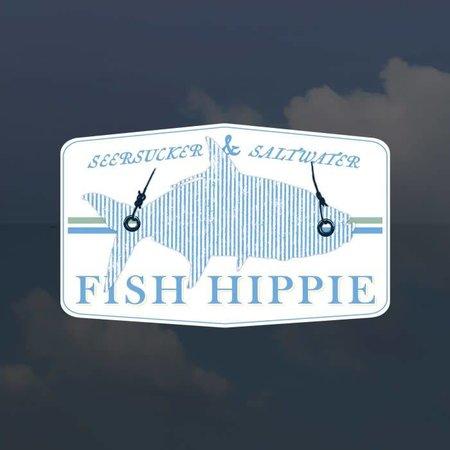 Fish Hippie Seersucker Sticker