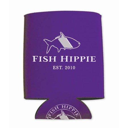 Fish Hippie Purple Koozie