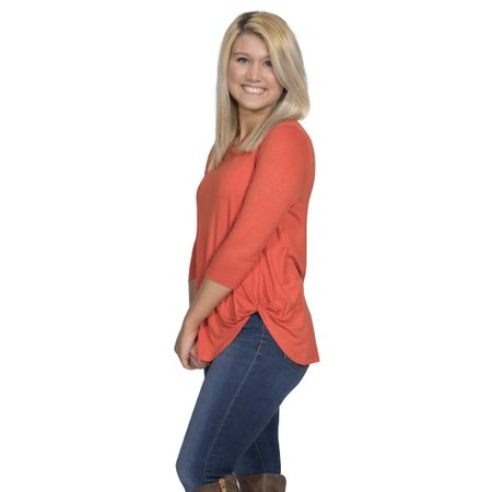 Fashion Knot Top Pumpkin