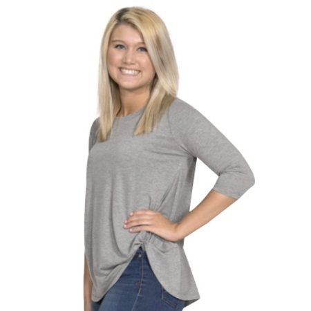 Fashion Knot Top Heather Grey