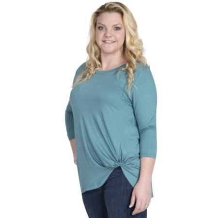 Fashion Knot Top Teal