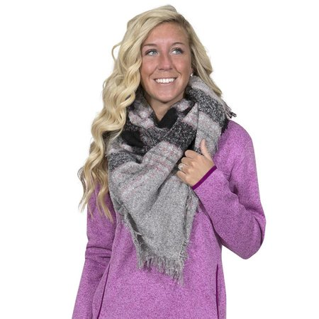 Pink Black Blanket Scarf