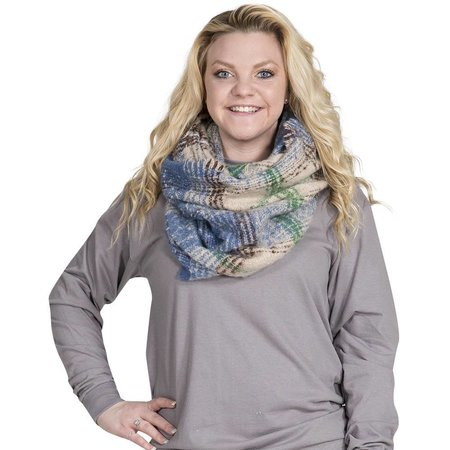 Blue Green Infinity Scarf