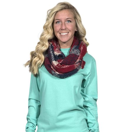 Red Navy Infinity Scarf