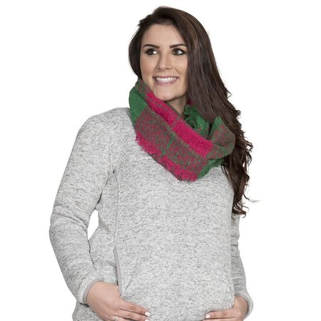 Pink Green Infinity Scarf