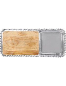 Pearled Cheese & Cracker Server