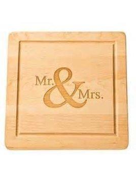 Mr & Mrs Cutting Board 12x12