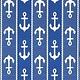 Anchor Blue White